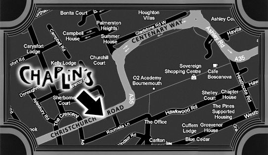 Map to Chaplin's Bar and restaurant